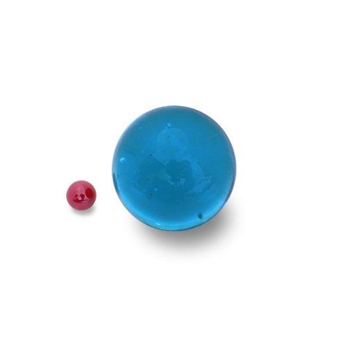 1 Bille d'art BLEU INTENSE de 5 cm en verre de Bohème Translucide sans bulle d'air