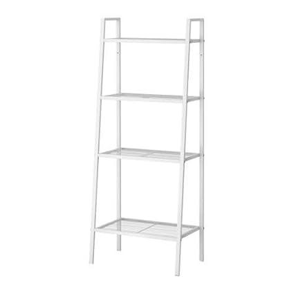 amazon com ikea lerberg shelf unit bookcase white kitchen dining rh amazon com  white metal bookshelves
