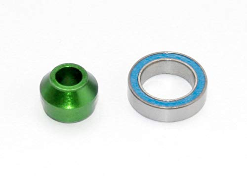 (Traxxas Bearing Adapter, 6061-T6 Aluminum (Green-Anodized) (1)/ 10x15x4mm Ball Bearing (Black Rubber Sealed) (1) (for Slipper Shaft))