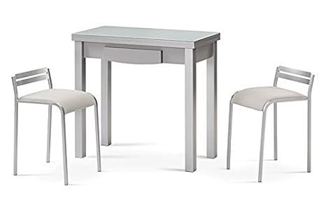 Costa azul mobiliario sgabello cucina lorena argento bianco