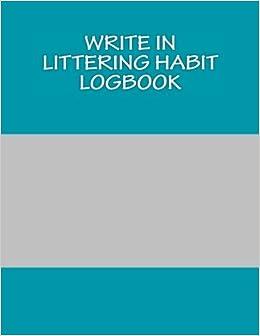 amazon littering habit logbook blank books you can write in