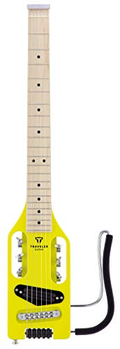 Ultra-Light Electric Travel Guitar w/Gig Bag (Electric Yellow)