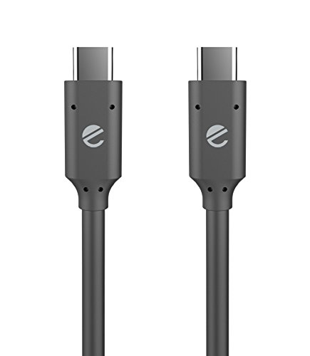 eeco USB-C to C 3.1 Gen 2 Cable(3ft), Fast Speed Data Transfer 10Gbps Type C Power Delivery Cable 60W Compatible with MacBook/MacBook Pro, Chromebook Pixel, Galaxy S8, Nexus, Nintendo Switch (Black)