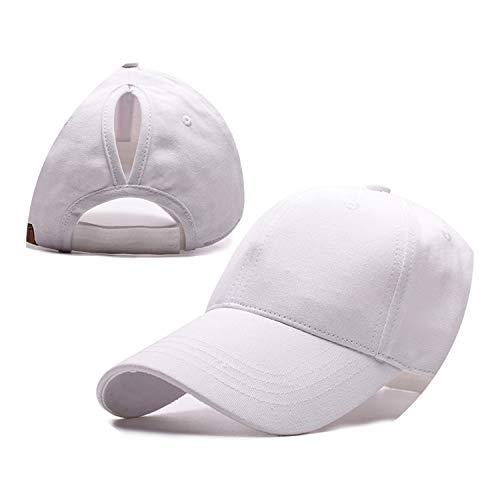 野球帽のキャップンスタイルのオープンポニーテールキャップ カスタマイズ 帽子,白色,CCマークなし