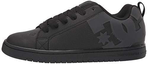 DC Men's Court Graffik Skate Shoe, Black/Shadow Print, 7 D M US