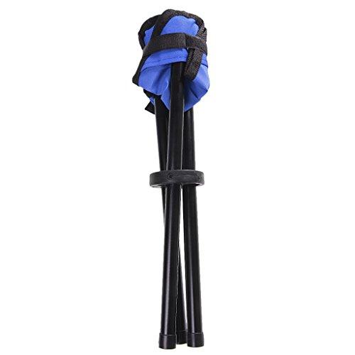 Tabouret Mobile et Pliable Trépied Portable de Pêche Camping - Taille unique, Bleu