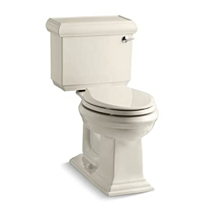 KOHLER Memoirs Comfort Height Two-Piece Elongated 1.28 gpf Toilet with Classic Design with Right-Hand Trip Lever