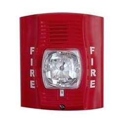 Fire Lite P2R Horn/Strobe, 12/24 Volt, Red, Multi-Candela 15,15/75, 30, 75,110,115 (Fire Alarm Horn)