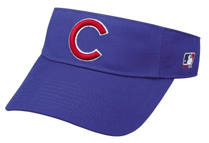Chicago Cubs Officially Licensed MLB Adjustable Velcro Adult Visor