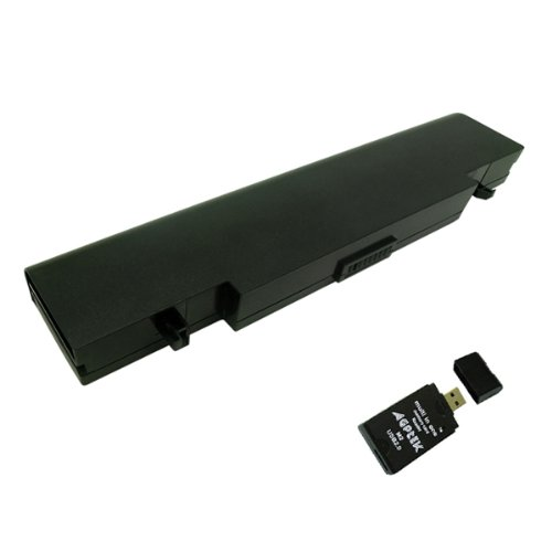 Replacement Laptop battery for SAMSUNG NP-R418 NP-R420 NP -R430 NP-R460 NP-R470 NP-R480 NP-R517 NP-R520 Series, Compatible with AA-PB9NC6B AA-PB9NS6B Plus AGPtek USB 2.0 all-in-one Card Reader [6 cells, 5200mAh, 11.1V]