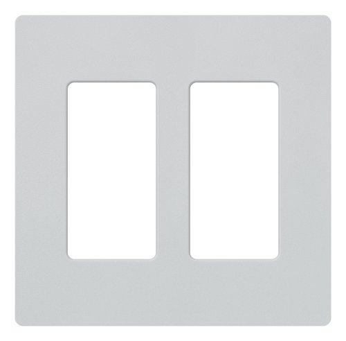 Lutron Claro 2 Gang Decorator Wallplate, SC-2-PD, Palladium (Palladium Satin)
