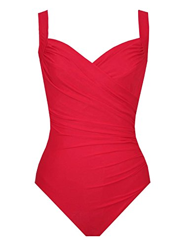 Miraclesuit 1 Piece Red Swimsuit Sanibel Must Haves