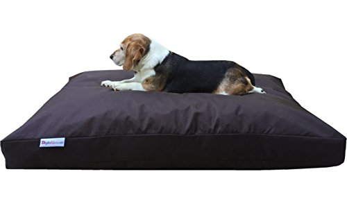 Dogbed4less Extra Large Memory Foam Dog Bed Pillow with Orthopedic Comfort, Waterproof Liner and Heavy Duty Nylon Cover 47X29 Inches, Seal Brown