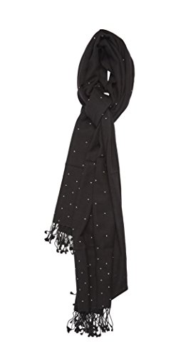 Pashmina Shawl with Swarovski crystals - Galaxy (Black) by Cashmere Boutique