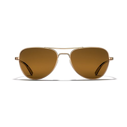 ROKA Rio Ti Performance Polarized Aviator Sunglasses for Men and Women Gold Frame - Bronze (Polarized) - Sunglasses Ti