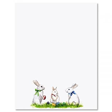 picture about Easter Bunny Letterhead named : Easter Bunnies Easter Letter Papers - Established of 25