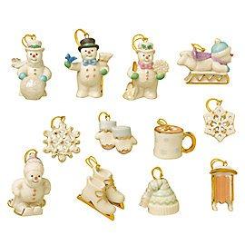 Lenox Snow Pals 12 Piece Miniature Ornament Set