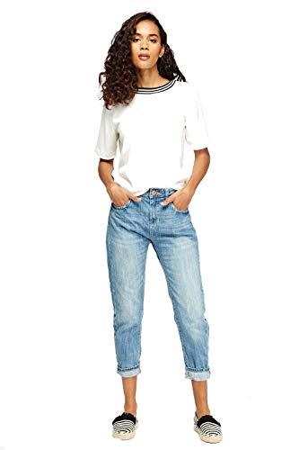 4 Ex Denim Store Brands Capri 3 Bleu Ex Poche Chain Jean 36 Longue Mango Boyfriend xqzUnY5tZw