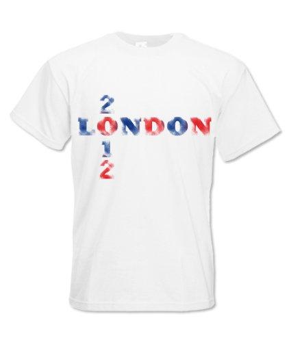 Hoodiii MENS PREMIUM PRINTED T SHIRT LONDON 2012 XL - 2012 London T-shirt