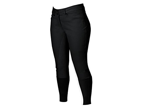 Dublin Active Shapely Front Zip Full Seat Breeches Black Ladies 34 ()