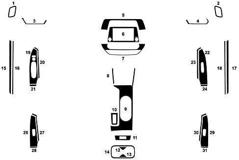 Brushed Black Aluminum Rvinyl Rdash Dash Kit Decal Trim for Nissan Altima 2019-2020