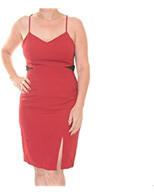 Jessica Simpson Open-Back Lace Illusion Sheath Dress Size M