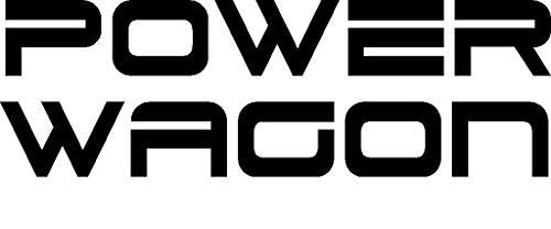 Workmas Sticker Dodge Power Wagon Glossy Vinyl Decal, Black