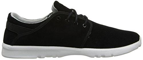 Etnies SCOUT - Zapatillas para deportes de interior de cuero para hombre negro negro Black/grey/white