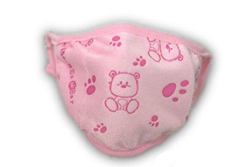 Masque - petit-ours (disponible en noir, rose, blanc, gris et bleu) de poussière de l'enfant (rose)