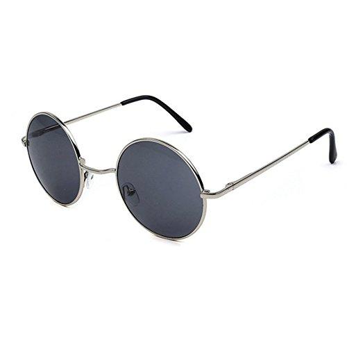 b1509f43498b9a Aoligei Bright Ocean couleur miroir de Prince de grosses lunettes rondes  lunettes de soleil lunettes de