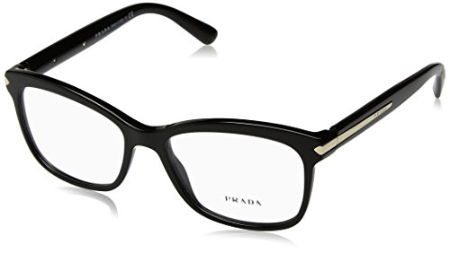 Prada Unisex 0PR 10RV Black 2 One - Name Brand Glasses