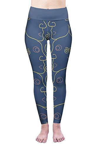 MAOYYMYJK Yoga-Hose Für Damen Leggings 3D-Digitaldruck Hose Mit Hoher Taille