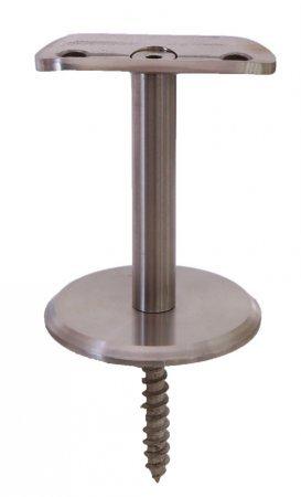 Handlaufstütze Brüstung für Rohr 33,7 mm V2A 3 Loch
