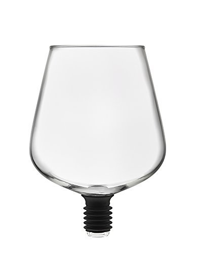 Godinger ChugMate Wine Glass Topper, Goblet to Drink Straight from The Bottle, The Original, 16oz - Huge Glass Wine Cup