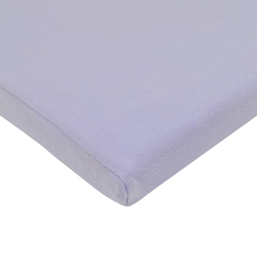 TL Care Supreme 100% Natural Cotton Jersey Knit Fitted Cradle Sheet, Lavender, Soft Breathable, for Girls