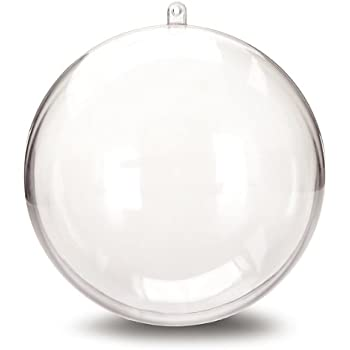 Darice 1105-89 Plastic Ball Ornament, 140mm, Clear