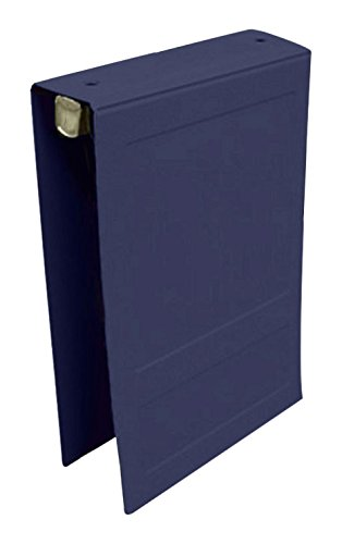 PDC Healthcare CBT4NB Poly Binder, Top Open, 2-Ring, Blank Front, 1.5'', Navy Blue
