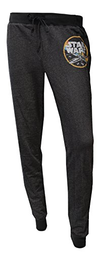 Women's Juniors Star Wars Drawstring Sweatpants (M)]()
