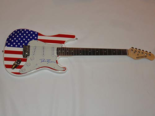 DIERKS BENTLEY SIGNED USA FLAG GUITAR COUNTRY SUPERSTAR AUTOGRAPHED JSA COA