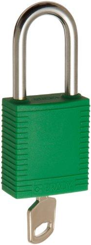 Brady Plastic Lockout/Tagout Padlock, Keyed Different, 1-3/4