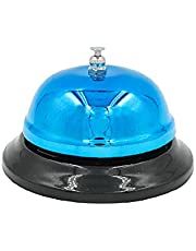 Shubhkart Blue Desk Bell, Service Bell for Home, Office, Hotel, Classroom, School and Pet Training.