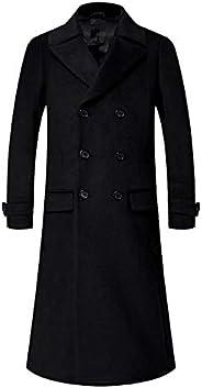 APTRO Men's Wool Blend Trench Coat Full Length Overcoat Fleece Lining Top