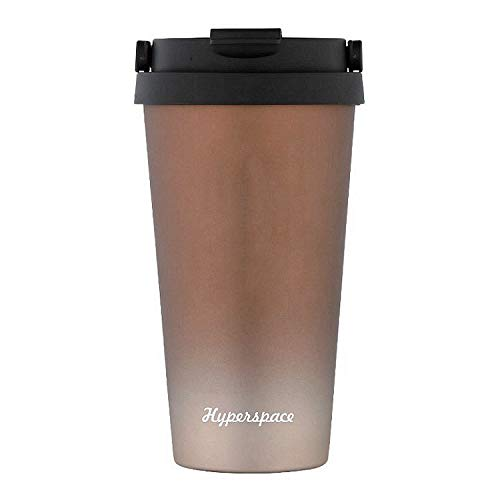 Coffee Vacuum Mug Stainless Steel Hyperspace Thermal Mug with Flip Lip, Leak Proof Insulated Water Bottle, 18 oz, - Time Mug Oz Thermal 18