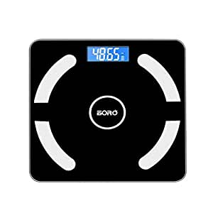 Vosarea Weight Scale with Tempered Glass Easy Read Backlit LCD Display
