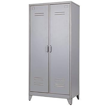 Fesselnd Spindschrank U0027Maxu0027 Mit 2 Türen Metall Vintage Grau