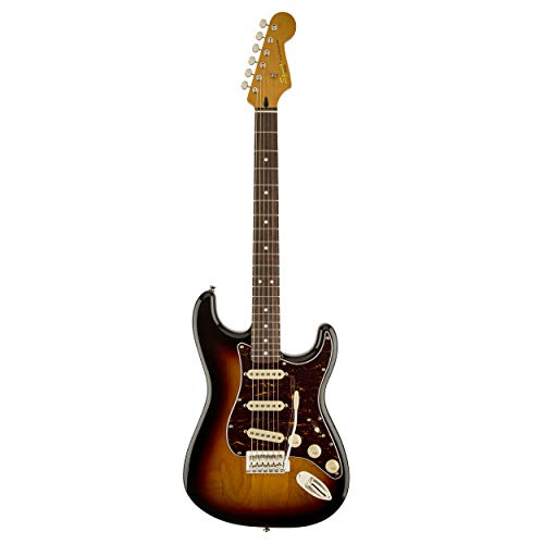 Stratocaster 3 Colour - Squier 303019500 by Fender Classic Vibe 60's Left Hand Stratocaster Electric Guitar - 3-Color Sunburst - Rosewood Fingerboard