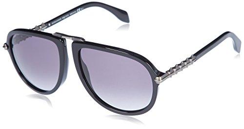 Alexander McQueen Unisex AMQ 4269/S Black Antique Silver/Gray - Mcqueen Eyewear