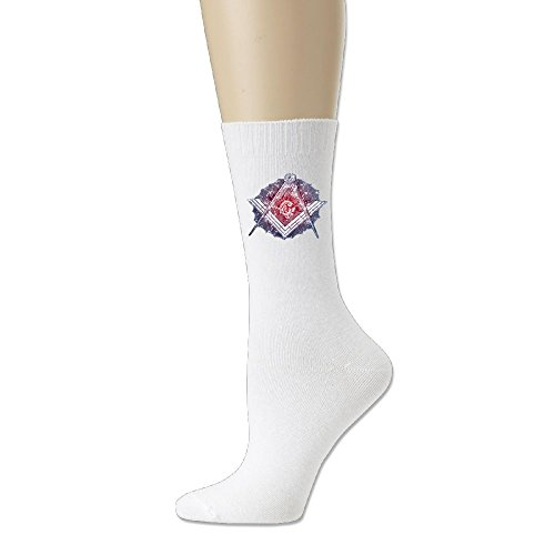 Freemason Men Cotton Crew Socks (Masonic 2 Heel)