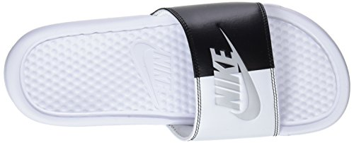 Benassi Pure de White Black JDI 104 EU Platinum White et Chaussures Nike Piscine Noir Femme Plage dRPqd