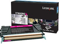 Lexmark Magenta Toner Cartridge, 7000 Yield, For Use in Model X746/X748 (X746A2MG) by Lexmark